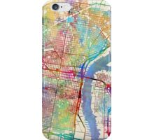 Philadelphia Pennsylvania City Street Map iPhone Case/Skin