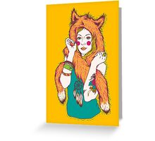 Fox Girl Greeting Card