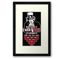 When I Sink It, I want YOU to Drink It Framed Print