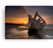 Wreck at Sunset • Bunbeg, Co Donegal Metal Print