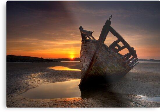 Wreck at Sunset • Bunbeg, Co Donegal by GaryMcParland