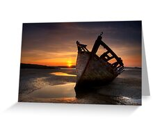 Wreck at Sunset • Bunbeg, Co Donegal Greeting Card