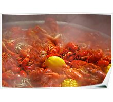 Crayfish on the Boil Poster