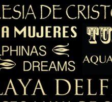 Cancun Famous Landmarks Sticker