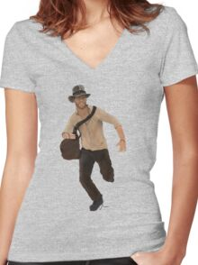 Indiana Jones  Women's Fitted V-Neck T-Shirt