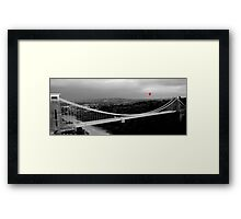 Red Balloon Over Clifton Suspension Bridge Framed Print