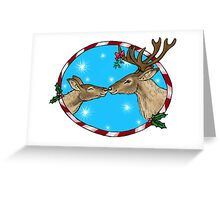 Reindeer Kisses Festive Design Greeting Card