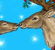 Reindeer Kisses Festive Design Sticker