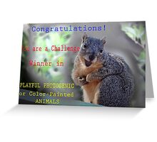 CHALLENGE WIN BANNER Greeting Card