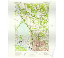 USGS Topo Map Washington Vancouver 244442 1954 24000 Poster