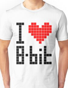 I Love 8-bit <3 Unisex T-Shirt