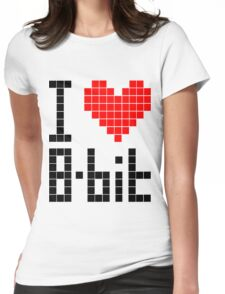 I Love 8-bit <3 Womens Fitted T-Shirt