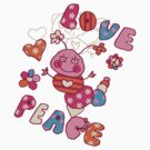Peace Love Bug by T-ShirtsGifts