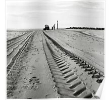 Tracks in the Sand - Sea Palling Poster