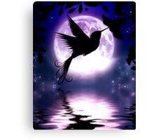 Moonlit Hummingbird Canvas Print