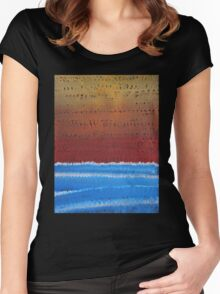 Equatorial original painting Women's Fitted Scoop T-Shirt