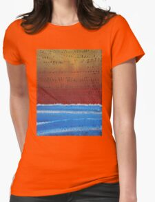 Equatorial original painting Womens Fitted T-Shirt