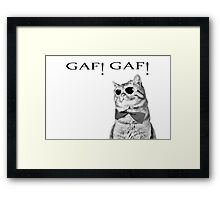 Cat Boss.Funny Cat wearing glasses.Like a boss. Framed Print