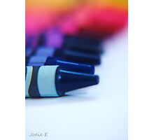 Crayons in a row Photographic Print