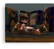 Cleopatra in Recline Canvas Print