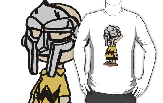 "The supervillain ""MF DOOM"" X Charlie Brown by philmart"