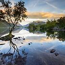 Snowdonia - Snowdon reflections on Llyn Padarn by Angie Latham