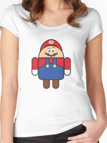 Super Droid Bros. Mario Women's Fitted Scoop T-Shirt