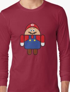 Super Droid Bros. Mario Long Sleeve T-Shirt