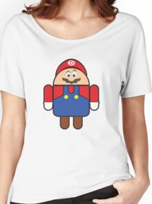 Super Droid Bros. Mario Women's Relaxed Fit T-Shirt
