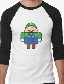 Super Droid Bros. Luigi Men's Baseball ¾ T-Shirt