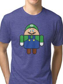 Super Droid Bros. Luigi Tri-blend T-Shirt