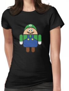 Super Droid Bros. Luigi Womens Fitted T-Shirt
