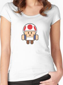 Super Droid Bros. Toad Women's Fitted Scoop T-Shirt