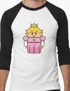 Super Droid Bros. Princess Peach Men's Baseball ¾ T-Shirt