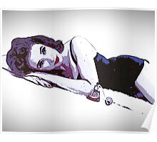 Perfume Pin Up Girl Poster