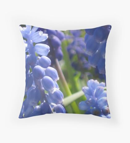 Fresh & Peaceful - Grape Hyacinth Throw Pillow
