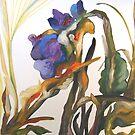 Bearded Iris, Big Sur Woods by Barbara Sparhawk