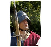 English Man-at-Arms with Sallet, Jack and Glaive Poster