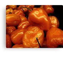 Orange Peppers....... Canvas Print