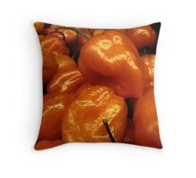 Orange Peppers....... Throw Pillow