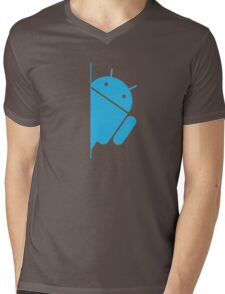 Think with Droids Mens V-Neck T-Shirt
