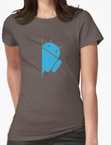 Think with Droids Womens Fitted T-Shirt
