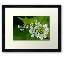 Unceasingly Pray ~ 1 Thessalonians 5:17 (2 of 3) Framed Print