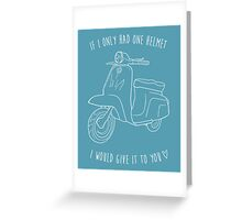 Downtown on a Moped Greeting Card
