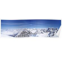 Panorama towards the Aiguille Verte, Chamonix. Poster