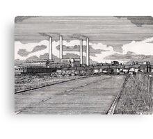 201 - BLYTH POWER STATION - DAVE EDWARDS - INK - 1995 Canvas Print
