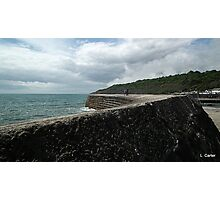 Walk Along The Harbour Wall Photographic Print