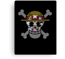 One Piece Jolly Roger Canvas Print