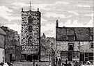185 - MORPETH MARKET PLACE IN THE 19th CENTURY - DAVE EDWARDS - INK - 1991 by BLYTHART