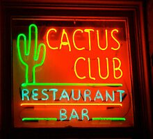 cactus club - neon sign by Babz Runcie